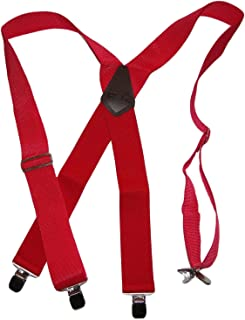 Hold-Ups XL 红色工业 5.08 厘米无弹性背带/防滑银色夹