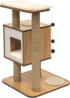 Vesper Cat Furniture, Walnut, V-Base