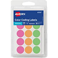 Avery Round Color Coding Labels