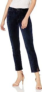 PAIGE 女式 Cindy 天鹅绒扭缝高腰直筒裤