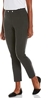 Rafaella 女式舒适修身套穿 Ponte 针织裤,带接缝细节