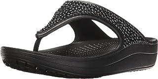 Crocs 女士 Sloane 装饰人字拖 | 女式人字拖 | 涉水鞋