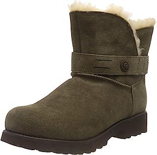 BEARPAW 女士 Wellston 宽靴,NeverWet (棕色,尺码 11)