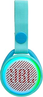 JBL JR Pop 迷你盒子 粉色 – 罂粟花,防水蓝牙扬声器,带内置灯光图案JBLJRPOPTEL