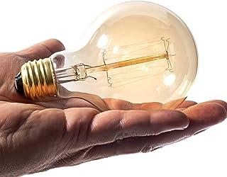 Edison 灯泡 | 复古风灯 | 琥珀暖白炽灯 | (4 个球形灯泡)