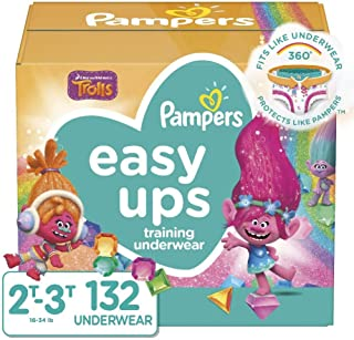 Pampers 帮宝适 Easy Ups 训练内衣女孩尺码 4 2T-3T 132 片