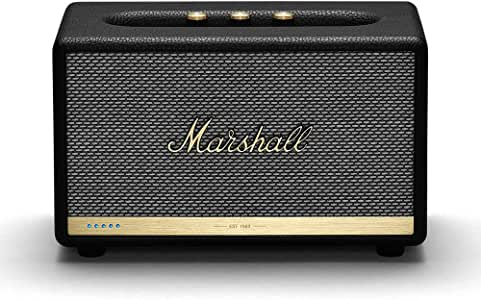Marshall 马歇尔 Acton II 无线Wi-Fi多房间智能扬声器,内置Amazon Alexa,黑色-新