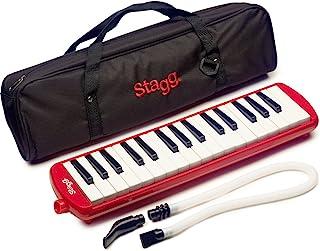 Stagg 32 键口风琴 MELOSTA32RD 带口袋,红色
