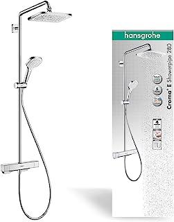 Hansgrohe 27630000 Croma E恒温淋浴系统280,含一个花洒,镀铬