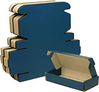 30 包瓦楞包装箱邮寄,蓝色可回收纸板小号礼品邮寄盒(6.3x3.1x1.2)