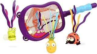 B. Battat 出品的玩具 - 河马 Scoop-a-Diving 泳池玩具 - 1 个河马网和 4 个儿童玩具(5 件)