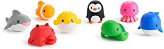 Munchkin – 海洋喷水动物 沐浴玩具 8 件装