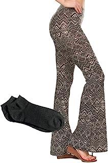 女士性感别致的喇叭裤长宽高腰喇叭裤打底裤休闲裤/免费袜子