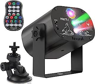 无线派对灯,内置 DJ 迪斯科灯光,LED 投影机舞台频闪灯,声音激活遥控器,派对,圣诞节,万圣节,婚礼照明(黑色)
