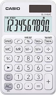 Casio sl-310uc-we – 口袋计算器,0.8 x 7 x 11.8厘米,白色