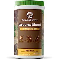 Amazing Grass Green Superfood 粉末,螺旋藻,小球藻,消化酶和益生元,巧克力粉,60份