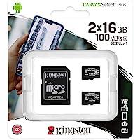 Kingston 16GB microSDHC Canvas Select Plus 100MB/s 读取 A1 Cla…