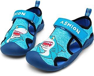 ASHION 男孩女孩涉水鞋速干水生运动凉鞋幼儿儿童