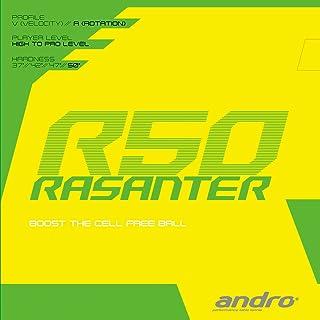 andro 乒乓球 胶皮 RazanterR50 系列单旋转量 112289 红色 (RD) ULTRA MAX