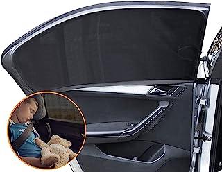 通用汽车遮光帘,2 件装弹性透气网眼汽车后侧窗遮阳罩汽车隔热和隐私保护,为婴儿儿童宠物提供*保护,适合大多数汽车/越野车