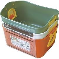 锦化成 收纳盒 小熊维尼 迷你软桶 3色套装 (深橘色/橄榄绿/米色)