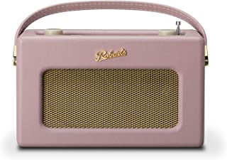 Roberts Radio REV-ISTREAM3DP 复古 DAB / DAB + FM 无线便携式数字蓝牙收音机 Alexa 语音控制智能扬声器 Revival iStream 3 - 暗粉色