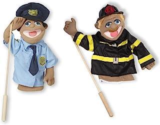 Melissa & Doug 木偶套装 - 警察和消防员