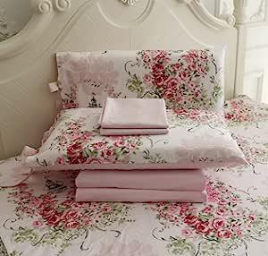 FADFAY 花卉床单 4 件套 * 棉深口袋 Midsummer Rose Queen 1