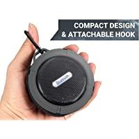 Rugged 防水便携式蓝牙音箱 | 大音量高清音效,带吸盘的淋浴音箱 | 兼容 iOS、Android、PC、iPad…