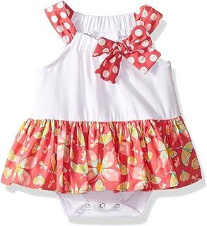 Bonnie JEAN 婴儿 / 婴幼儿女孩12m-24m 2件套 fuchsia-pink penguine 特殊场合 christmas-theme 节日派对羊毛套衫连衣裙套装