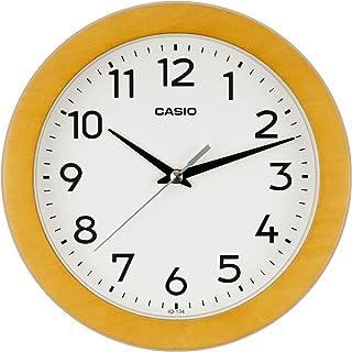 CASIO 卡西欧 挂钟 棕色 直径21厘米 模拟 木框 IQ-134-5JF