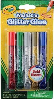 Crayola 可水洗闪光胶水 5 支(3 支装)