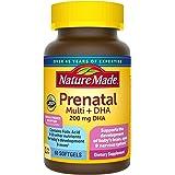 Nature Made 含叶酸,碘和锌的产前维生素+ DHA软胶囊60粒(包装可能会有所不同)