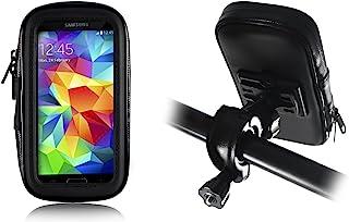 Lilware 通用自行车车把支架适用于大多数移动设备三星 Galaxy S5 / S6 / Note 5 / 4 / Apple iPhone 6 Plus / GPS / 导航系统和其他设备夹紧自行车支架带外壳和 360 度旋转系统。 黑色