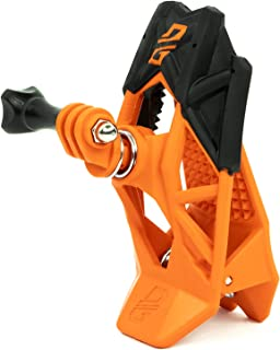 Dango Design 夹钳支架 – 通用夹具支架适用于运动相机,可用作摩托车、电力运动头盔等 – 运动橙色