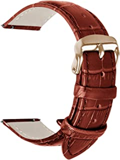 Vetoo 快速释放皮革表带,鳄鱼皮纹理表带 22 毫米/20 毫米/18 毫米替换表带 男女款