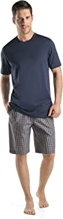 Hanro mens Night & Day Short Sleeve Shirt