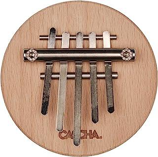 CASCHA Kalimba 高品质钢琴 5 个舌头 木指钢琴 适合儿童成人初学者 榉木 五角形 HH 2176