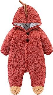 男女宝宝卡通厚保暖连帽衫连身衣,冬季连身衣防雪服外套