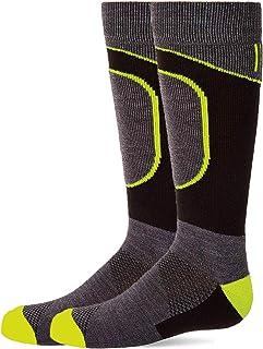 HIGHCAMP 2 双装美利奴羊毛滑雪袜,适合幼儿男孩女孩 - 冬季保暖徒步袜