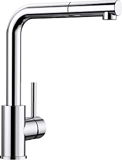 BLANCO 铂浪高 MILA-S 高压厨房水槽龙头 519810 抽出式出水嘴,镀铬