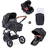 Hauck Pacific 3 Shop N Drive 组合婴儿车 6 件套 至 18 千克 + 婴儿提篮 可转换为可…