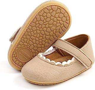 BENHERO 婴儿女童玛丽珍平底鞋防滑橡胶鞋底婴儿学步幼儿学步公主正装鞋婴儿床鞋