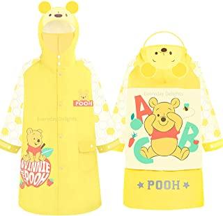 Disney 小熊维尼连帽雨衣防雨夹克斗篷外套适合男孩女孩幼儿儿童 EVA