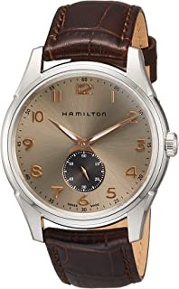 HAMILTON(哈密尔顿) Jazzmaster Thinline Small Second Quartz 捷克星 石英 40.00MM 灰色×棕色