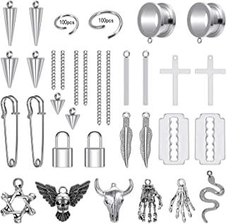 ZS 230 件 DIY 耳道配件吊坠计身体穿孔首饰,不锈钢 4 克 - 2.25 厘米女式/男式垂耳表
