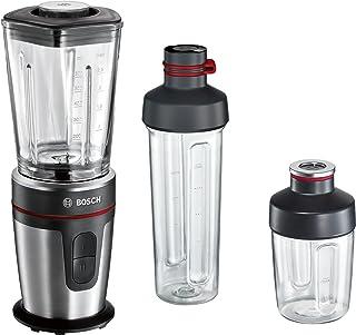 Bosch 博世 立式搅拌机 MMBM7G3M ThermoSafe玻璃搅拌杯,ToGo搅拌/饮水杯,350W,黑色/拉丝不锈钢