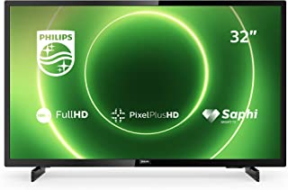 Philips 飞利浦 32PFS6805/12 32英寸电视(全高清LED电视,Pixel Plus HD,HDR 10,智能电视,全频扬声器,Freeview 播放,3 x HDMI,2 x USB,适合游戏) - 亮黑色(2020/202...