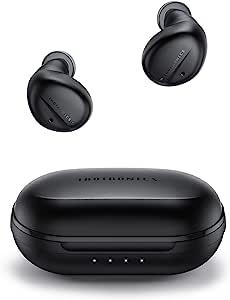 True 无线耳塞主动降噪,TaoTronics SounderLiberty 94 ANC 蓝牙 5.1 耳塞带 4 个麦克风 USB-C 充电外壳触摸控制 32H 播放时间深低音蓝牙耳机适用于运动