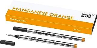 Montblanc 万宝龙 124524 圆珠笔替换装适用于 Montblanc 万宝龙滚球和Fineliner 尺寸 M,2 件装,幸运橙色